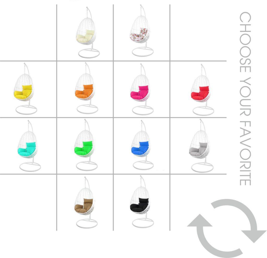 Kissen für Hängesessel alle Farben