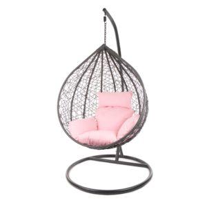 Gestell MANACOR grau mit rosafarbigem Kissen