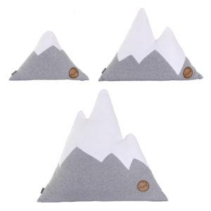 Alpenkissen-Set IDEPUL grau weiß in Größen S, M und L