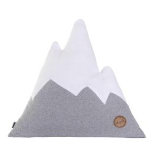 Alpenkissen IDEPUL grau weiß in Größe L