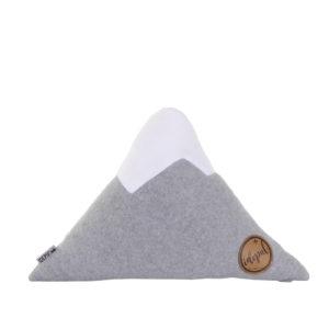 Alpenkissen Bergform Größe S grau-weiß