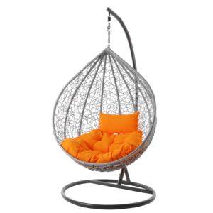 Hängesessel MANACOR hellgrau/orange