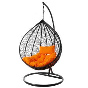 Hängesessel MANACOR schwarz/orange
